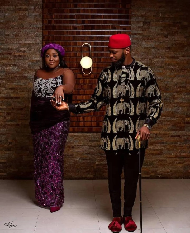 Actors Stan Nze and Blessing Obasi