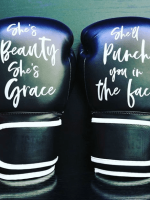 She's beauty boxing gloves