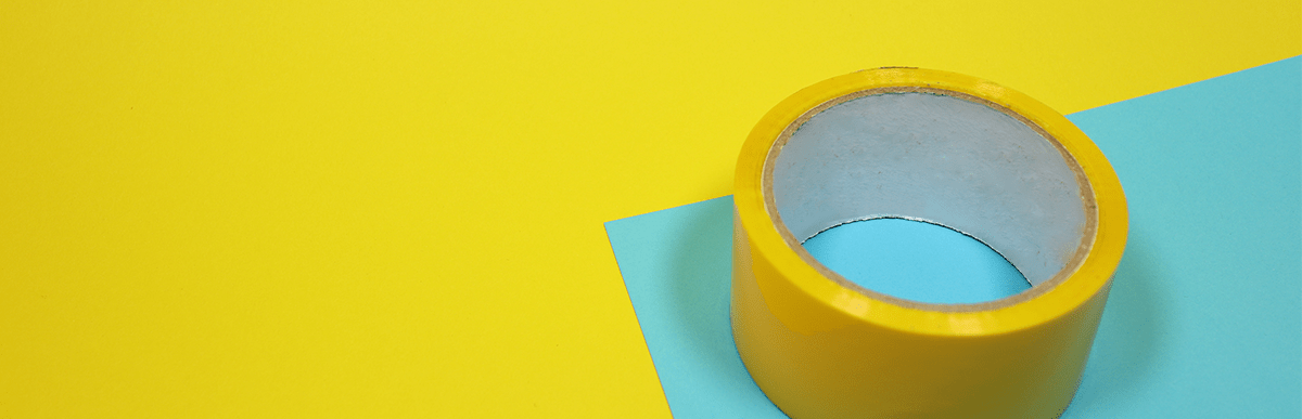 Image of yellow duct tape