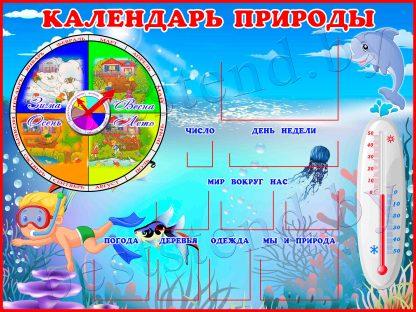 """Стенд """"Календарь природы """" (Море)"""