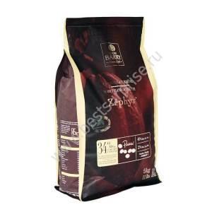 Шоколад кувертюр белый Zephyr 34%, Cacao Barry 5кг.