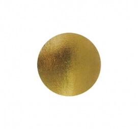 Подложка картонная круглая для пирожных золото D80 мм.