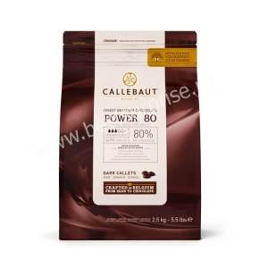 Горький бельгийский шоколад Power 80% Barry Callebaut, 2.5кг