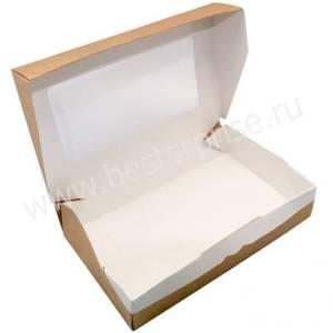 Упаковка (коробка) ECO для пирожных с окном 200*120*40, 1 шт.