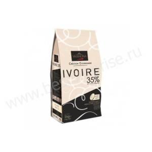 Шоколад (кувертюр) белый Ivoire 35%, Valrhona