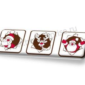 """Формы с переводным рисунком для шоколада """"Новогодний экипаж"""""""
