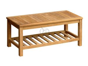 Recta Coffee Table with Rack Indonesia Outdoor Furniture Manufacturer