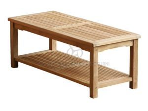 Rectangular Coffee Table With Rack