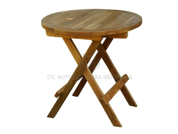 Round Picnic Table 50CM With Slat