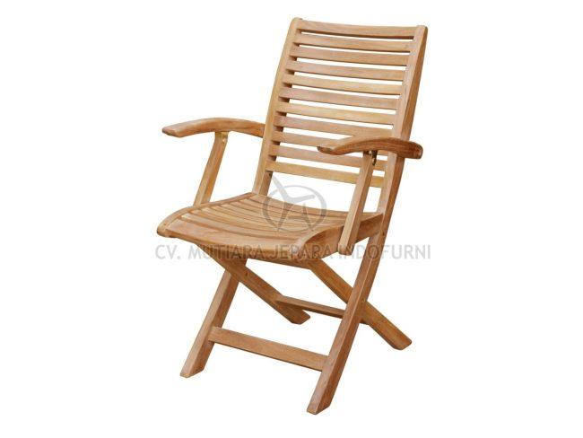 Folding Chair with Arm; Indonesia Furniture