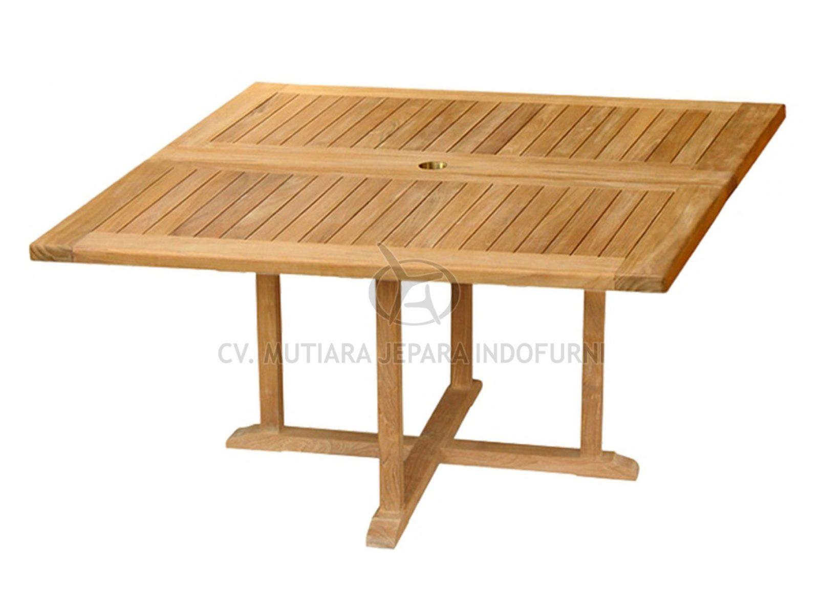 Square Fixed Table Teak Furniture Indonesia Furniture Manufacturer