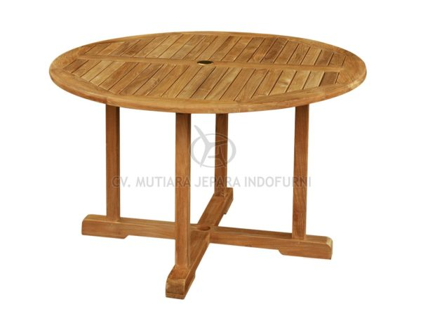 Round Fixed Table; Indonesia Furniture