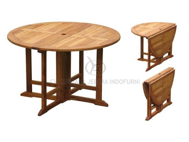Round Gateleg Table; Indonesia Furniture