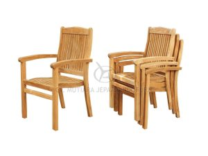 Stacking Arm Chair; Indonesia Furniture