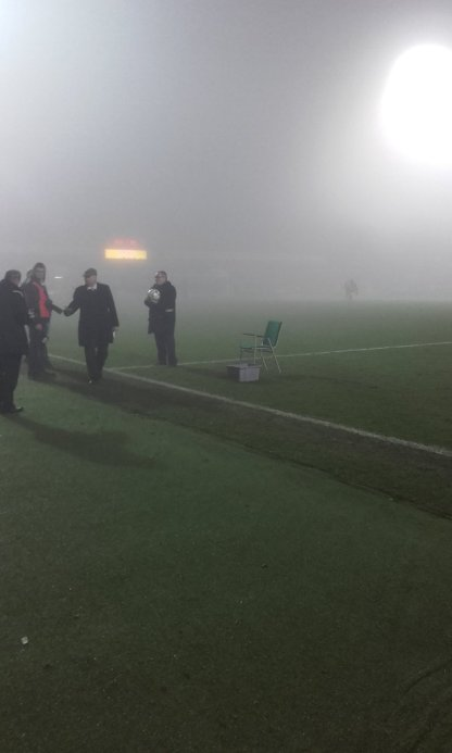 The fog at half time