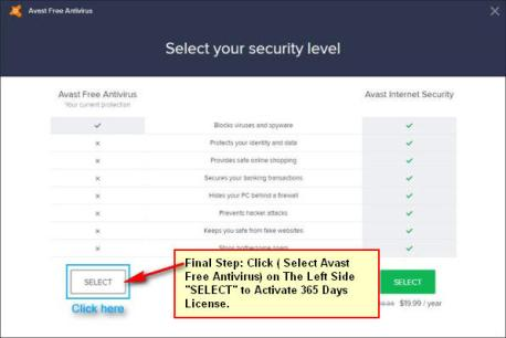 Avast Free Antivirus Activation Key
