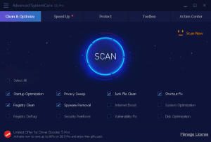 IObit Advanced SystemCare Pro 11 License Key Free Download