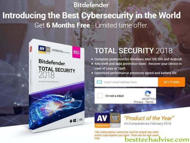 Bitdefender Total Security 2019 Free 6 Months License Key