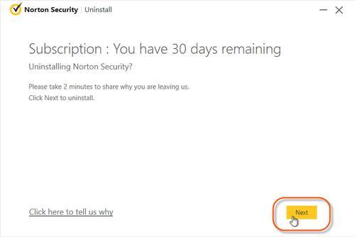 Norton Security Removal