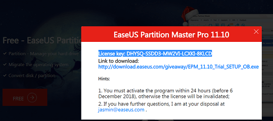 EASEUS Partition Master Professional Key 2019