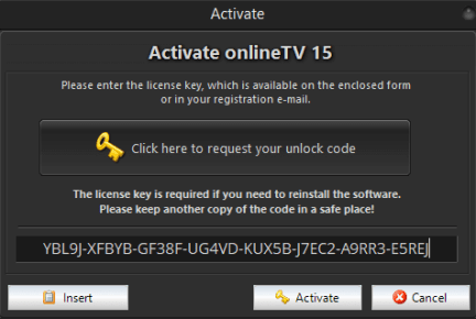 OnlineTV 15 Plus Free for 1 Year Key