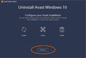 How to Uninstall Avast Antivirus in Windows 10 Completely