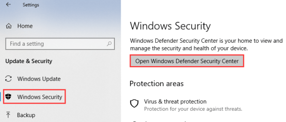 Windows 10 Defender