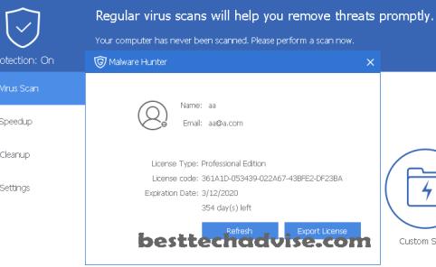 Malware Hunter Pro License Key Free 1Year - 2021