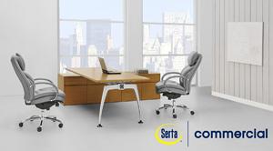 Serta 45451 Executive Faux Leather Chair Bg