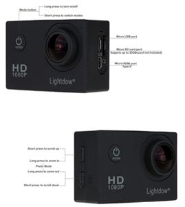 Lightdow LD4000 1080P HD Sports Action Camera 2