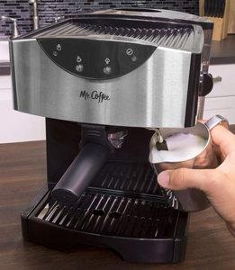 Mr Coffee Automatic Dual Shot Espresso Cappuccino System, ECMP50 Bg