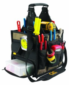 Custom LeatherCraft 1528 23 Pocket Large Electrical and Maintenance Tool Carrier