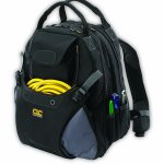 Custom Leathercraft 1134 Tool Backpack, 48-Pocket Electrician