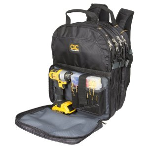 Custom LeatherCraft 1132 75-Pocket Tool Backpack Electricians