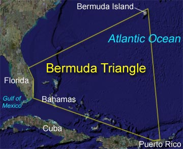 Happiness! bermuda triangle position