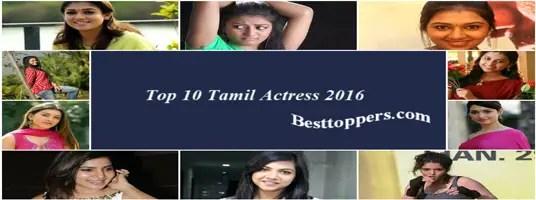 Top 10 Tamil Actress 2016