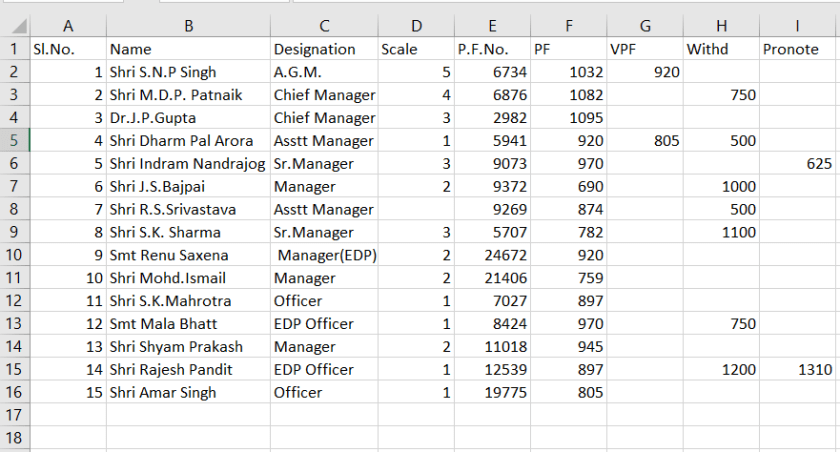 excel worksheet database