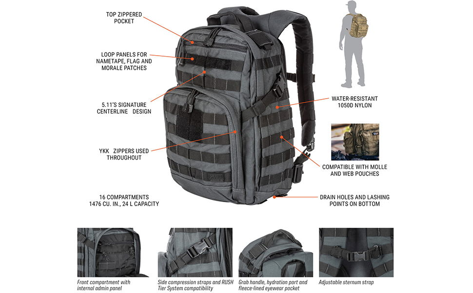 5.11 RUSH12 Tactical Military Backpack 1
