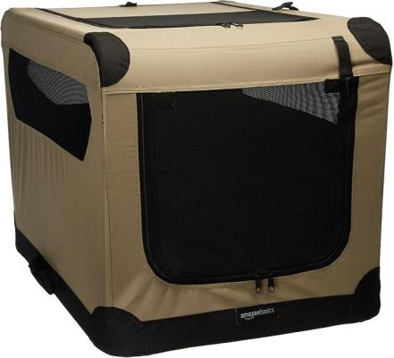amazonbasics folding soft crate