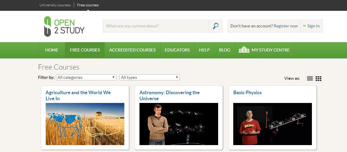 kuliah online gratis open2study