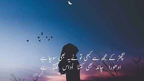 bichar k mujh se -بچھڑ کےمُجھ سے کبھی تو نے یہ بھی سوچا ہے -besturdupoetry.pk