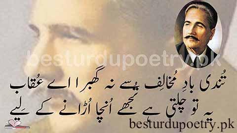 tundi e baad e mukhalif se na ghabra aye uqab - allama iqbal poetry