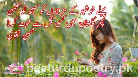 pehlay khushboo kay mazajon ko samajh lo - mohsin naqvi poetry