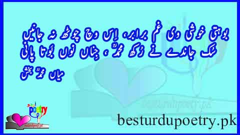 sufi poetry in urdu - buhti khushi vi gham brabr - sufiana shayari