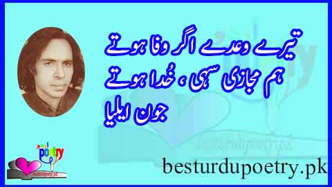 tery waday agar wafa hotay - john elia poetry in urdu - besturdupoetry.pk