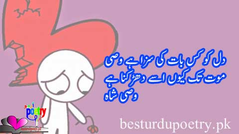 wasi shah poetry in urdu - dil ko kis baat ki saza ha wasi - besturdupoetry.pk