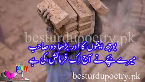 bojh enton ka barrah do sahib - father poetry in urdu