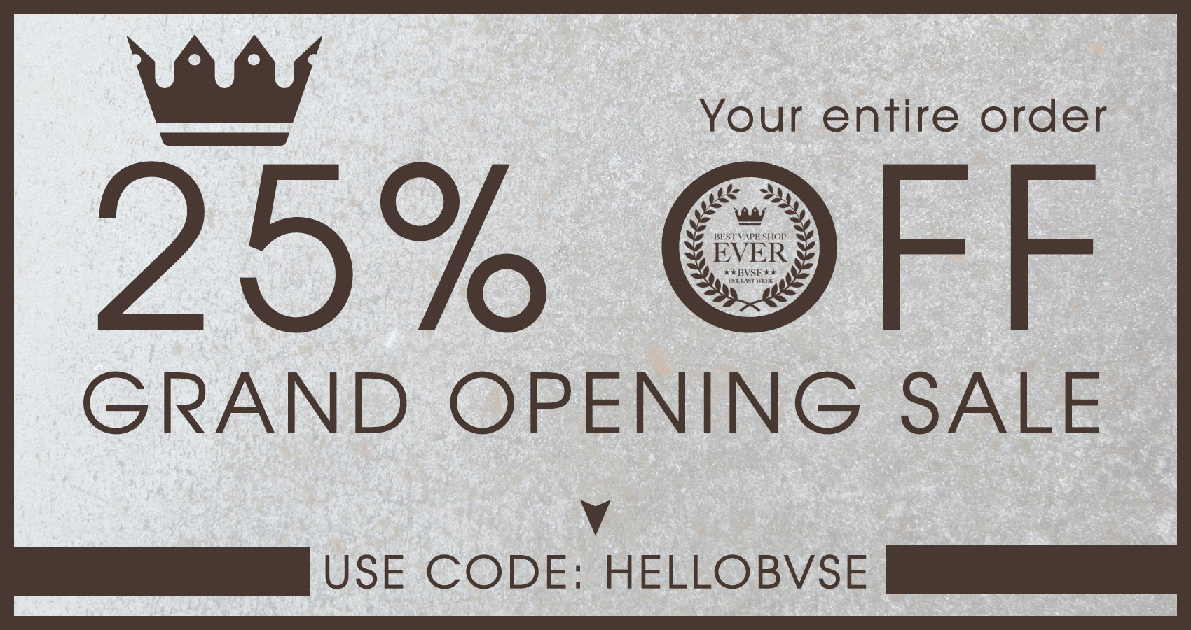 BVSE – 25% OFF