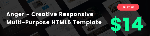 anger html Template