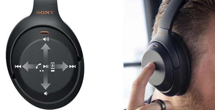 sony wh-1000xm3 touch control headphone